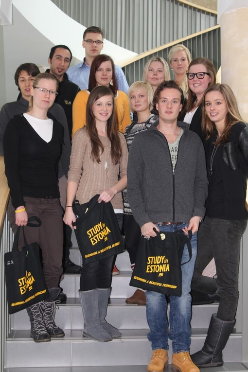 Erasmus group in 2012/13 spring semester. Photo: Eelika Tootsi