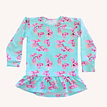 Kids clothes: Flower tunic dress with long sleeves for girls