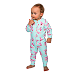 Children clothes: Baby sleepsuit with flowers