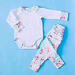 Matching baby clothes, handmade and soft fabric