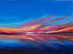 """Great Paintwork by Nature"" Oil on canvas, 80x60cm. Nature creates beautiful sunsets without any Instagram filters"