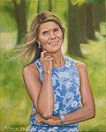 """Summer Day"" Oil on canvas, 40x50 cm. Commissioned portrait painting."