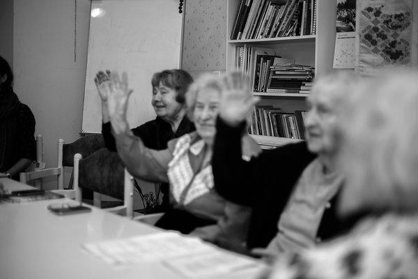Vanurite eneseabi- ja nõustamisühinku 80+ klubi prouad, sügis 2019. Foto: Katre Liiv