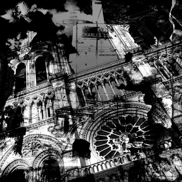 Paris Compositions _ Notre-Dame _ 84 cm X 84 cm _ 2013 1/3