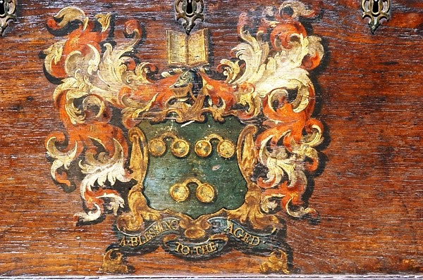 "The ""1739"" Arms as depicted on the Norville Chest."