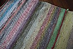 Twill handwoven rug from recycled textiles