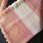 Handwoven wool baby blanket dyed with natural ingredients