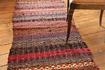 "Handwoven twill rug ""Oak Avenue"" made from recycled textiles"