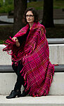 Terra Mama handwoven wool throw with fringe. Bright&smashing