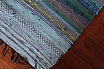 Handwoven rug/kitchen rug from recycled textiles  72 x 145 cm/28 x 57 inches from Terra Mama e-shop