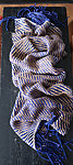 "Big loomknitted woollen scarf ""Breaking the Laxwaters""   150 x 62cm / 59 x 24,5 in + fringes"