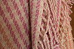 Terra Mama handwoven wool throw with fringe and coloured with mushrooms