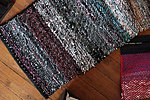 Handwoven twill rug 68 x 150 cm/27 x 79 in  made from recycled textiles by Terra Mama