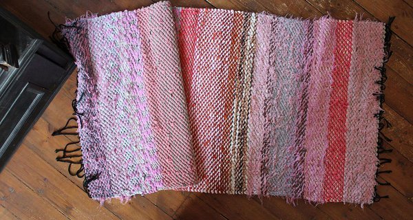 Handwoven twill rug 80 x 160 cm/31,5 x 63 in