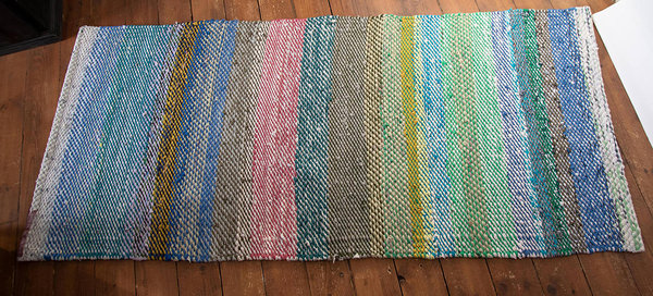 Terra Mama handwoven rag rug Walking on air