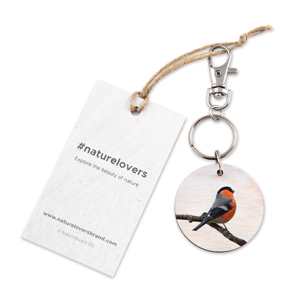 #pyrrhulapyrrhula Keyring by #naturelovers brand - Photo Gifts & Wall Art for Nature Lovers