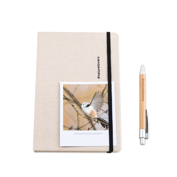 #aegithaloscaudatus Polaroid Card and Notebook  by #naturelovers brand - Photo Gifts & Wall Art for Nature Lovers