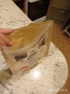 Müslipakend, mille viskan küll pakendikotti, kuid nüüd tean, et ringlusse see ei jõua, sest paberit ja plastikut pole võimalik eraldada.