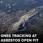 GNSS tracking at Asbestos open pit