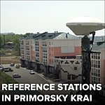 GNSS reference stations network in Primorsky Krai, Russia.