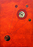 heavenly spheres for Max   (oil and collage on canvas)  50x70cm   £450