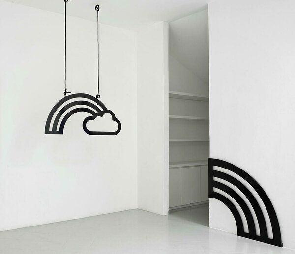 Cloud and Rainbow and Corner Rainbow, 2018 (dibond, editions of 3, 22 x 44 and 24 x 24 inches)