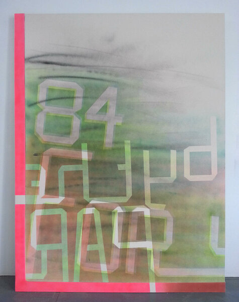84 Forsyth, 2013, acrylic on canvas, acrylic on canvas over wood artist's frame, 99 3/4 x 75 1/2 inches