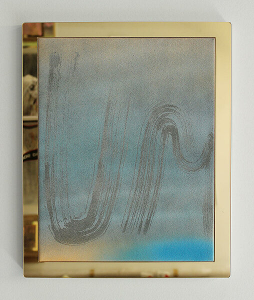 Umbro, 2014, acrylic on canvas, plexiglas and PVC artist's frame, 16 x 13 inches