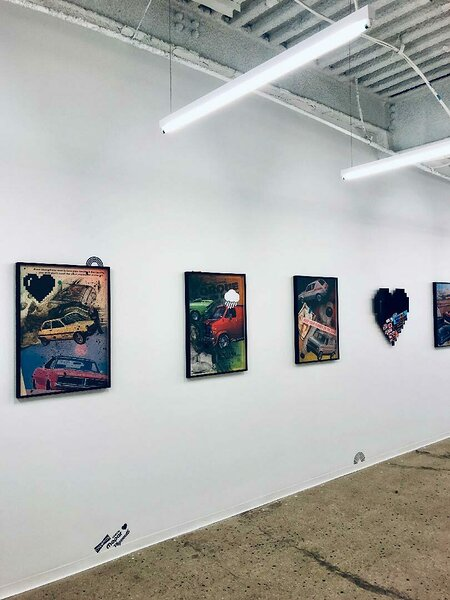 Installation view, Paradigm Talent Agency, NYC 2019